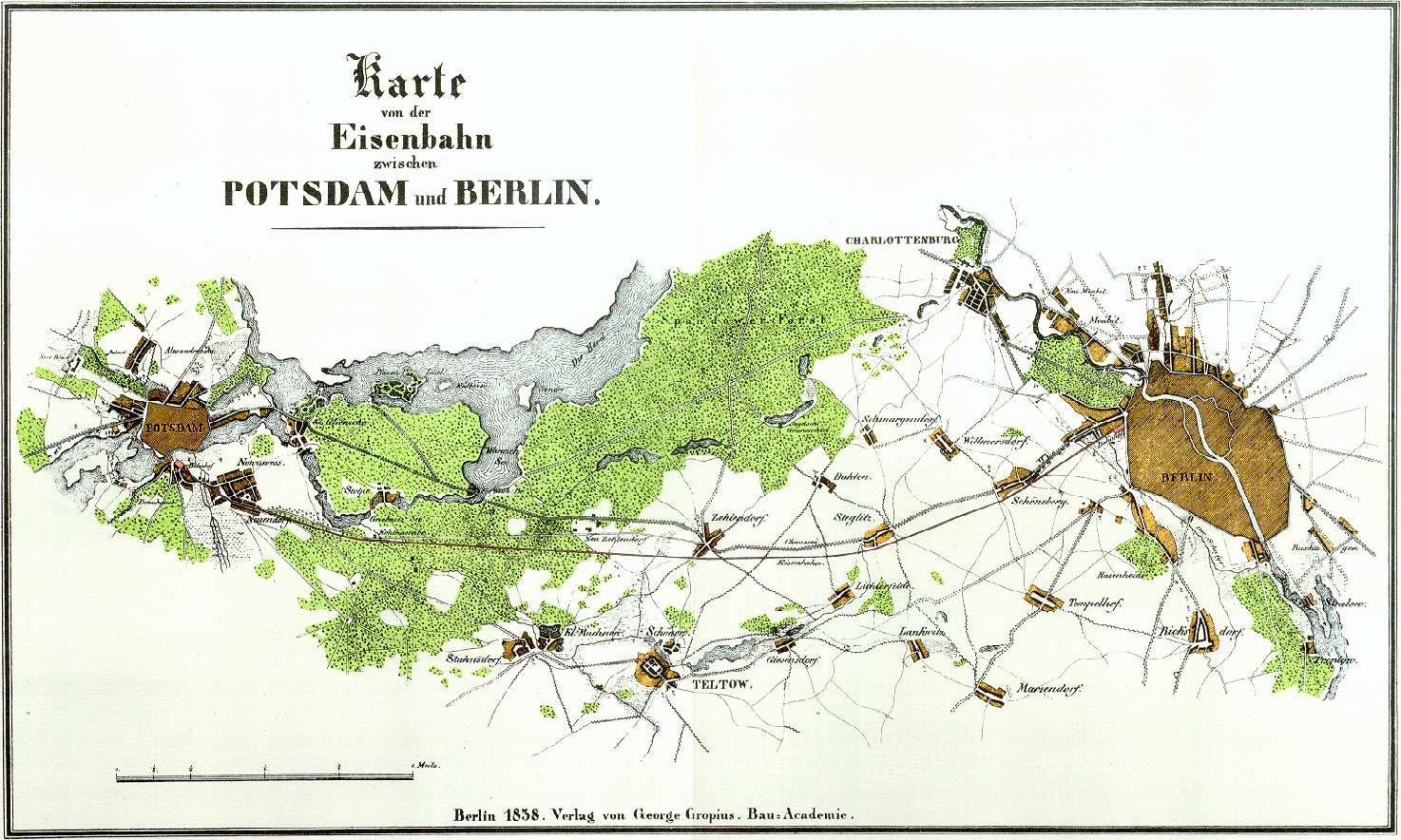 Berlin Potsdam Karte.Berlin Potsdam Magdeburger Eisenbahn